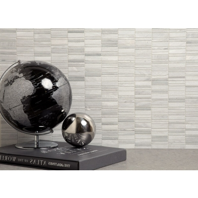 Vision Ash Gray (Honed and Polished) Marble Mosaic Tile - AKDO