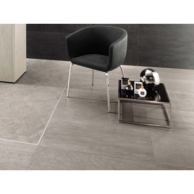 "12"" x 24"" Mark Chrome (Matte) Porcelain Tile - AKDO"
