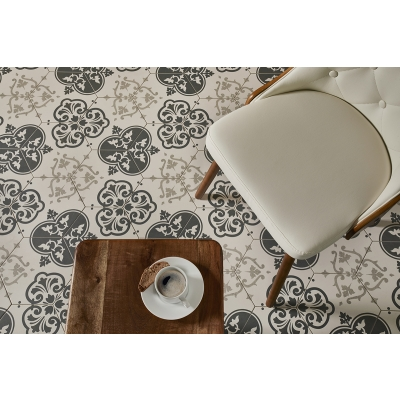 Hexagon Heritage Highland Pattern Porcelain Tile - AKDO