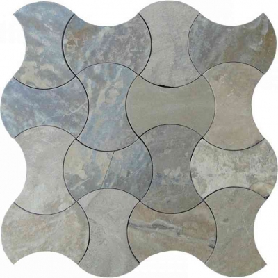 Picassoesque 2 Multicolor Slate Waterjet Mosaic Tile