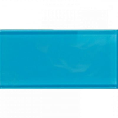 Turquoise Dream 3x6 Glossy Glass Subway Tile