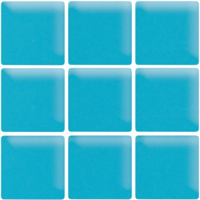 Turquoise Dream Matte Glass Mosaic Tile