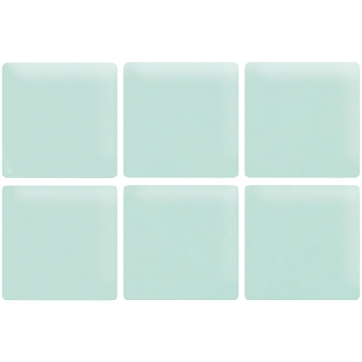 Frozen Blue Matte Glass Mosaic Tile