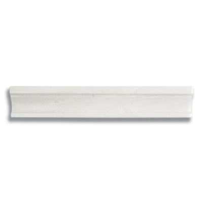 "12"" Contemporary Rail White Haze (Polished) - AKDO"