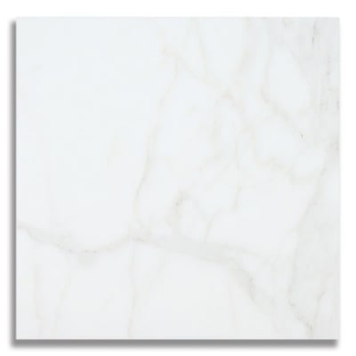 "12"" x 12"" Calacatta (Honed) Marble Tile - AKDO"