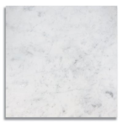"12"" x 12"" Carrara (Honed) Marble Tile - AKDO"