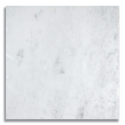 "12"" x 12"" Carrara (Polished) Marble Tile - AKDO"