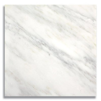"12"" x 12"" Carrara Bella (Polished) Marble Tile - AKDO"