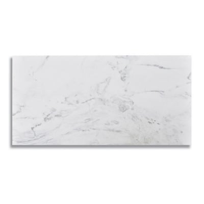 "12"" x 24"" Artemis White (Honed) Marble Tile - AKDO"