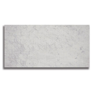 "12"" x 24"" Carrara C  (Fabric Textured) Marble Tile - AKDO"