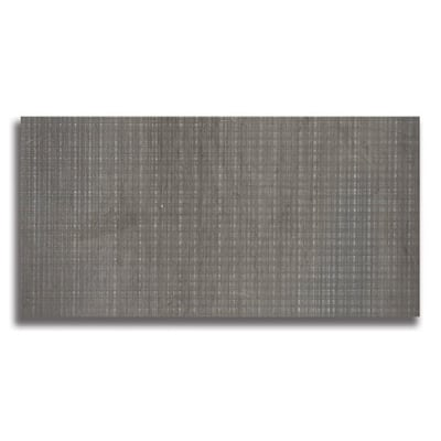 "12"" x 24"" Foussana Gray  (Fabric Textured) Limestone Tile - AKDO"