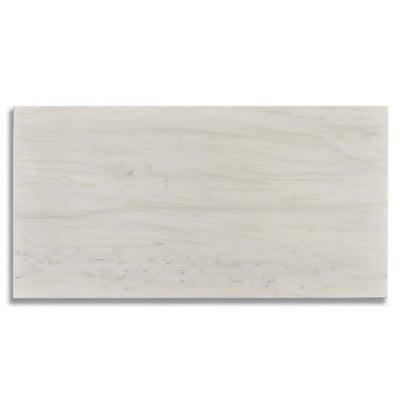 "18"" x 36"" White Haze (Honed) Marble Tile - AKDO"