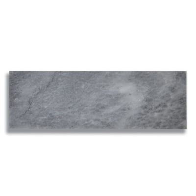 "4"" x 12"" Turkish Gray (Polished) Marble Tile - AKDO"