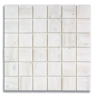 "2"" x 2"" White Haze (Polished) Marble Mosaic Tile - AKDO"