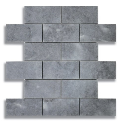 "2"" x 4"" Brick Turkish Gray (Polished) Marble Mosaic Tile - AKDO"