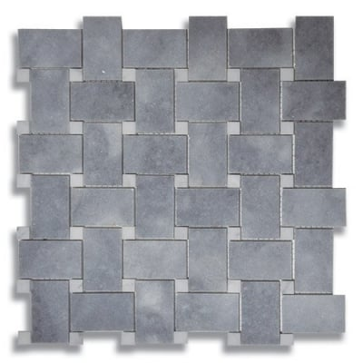 Basketweave Turkish Gray (Polished) Marble Mosaic Tile - AKDO