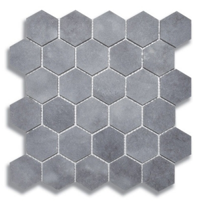 Hexagon Turkish Gray (Honed) Marble Mosaic Tile - AKDO
