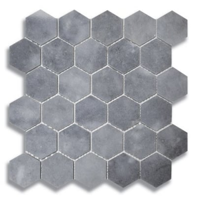 Hexagon Turkish Gray (Polished) Marble Mosaic Tile - AKDO