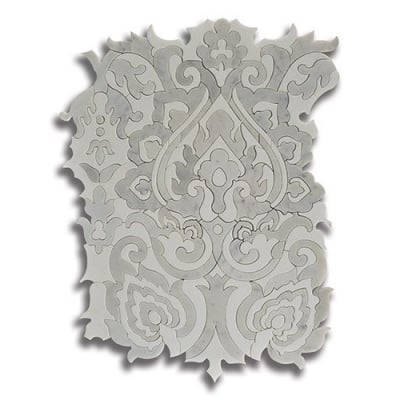 Sublime Tapestry Carrara (Honed) Marble Mosaic Tile - AKDO