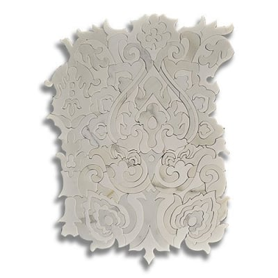 Sublime Tapestry Calacatta (Polished) Marble Mosaic Tile - AKDO