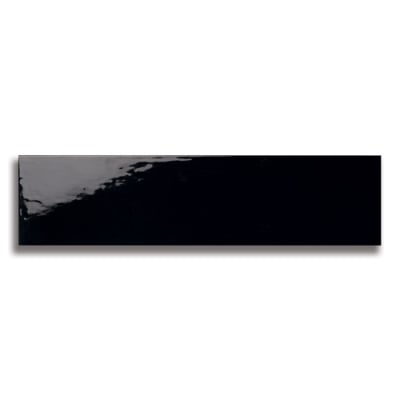 "10 1/2"" x 2 1/2"" Origin Black (Glossy) Ceramic Tile - AKDO"