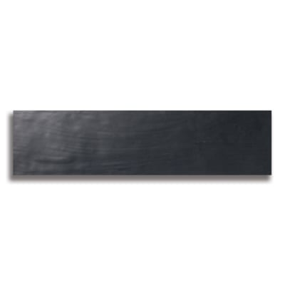 "10 1/2"" x 2 1/2"" Origin Black (Matte) Ceramic Tile - AKDO"