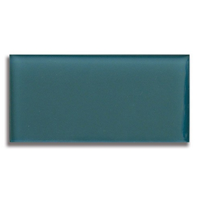 "3"" x 6"" Lagoon (Clear) Glass Tile - AKDO"