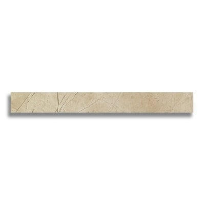 "Battiscopa 2 7/8"" x 24"" Marvel Beige (Matte) - AKDO"