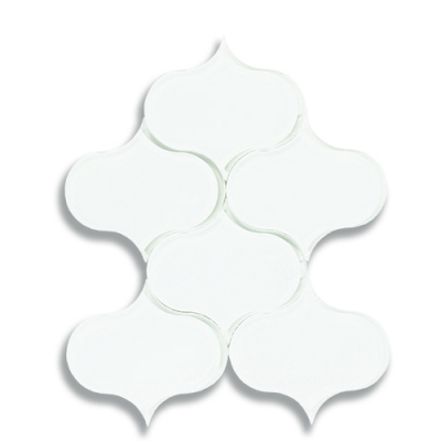 Dewdrop Arctic White (Clear) Glass Mosaic Tile - AKDO