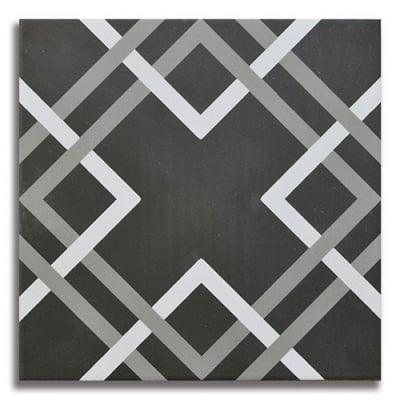 Passage Modernista Black Porcelain Tile - AKDO