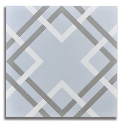 Passage Modernista Blue Porcelain Tile - AKDO