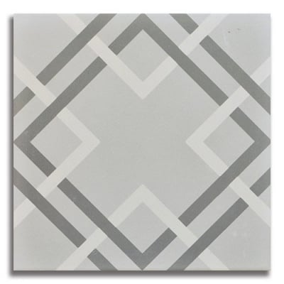 Passage Modernista Gray Porcelain Tile - AKDO