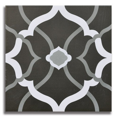 Passage Revival Black Porcelain Tile - AKDO