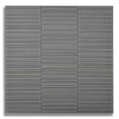 Textile Glass Loom Lunar Gray Medium (Random C/F) Glass Mosaic Tile - AKDO