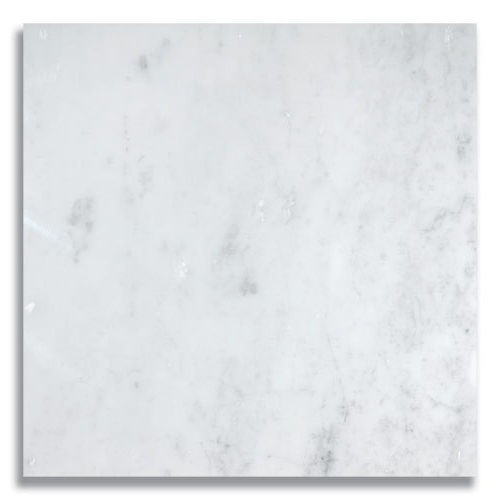 12 x 12 Carrara Polished Marble Tile - AKDO