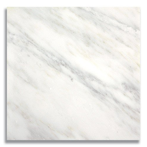 12 x 12 Carrara Bella Polished Marble Tile - AKDO