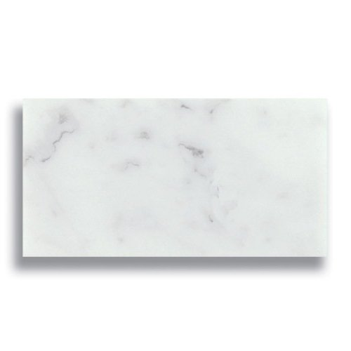 3 x 6 Carrara Polished Marble Tile - AKDO
