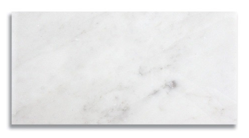 6 x 12 Carrara Honed Marble Tile - AKDO