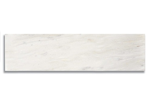 6 x 24 White Haze Polished Marble Tile - AKDO