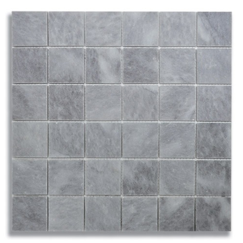 2 x 2 Turkish Gray Honed Marble Mosaic Tile - AKDO
