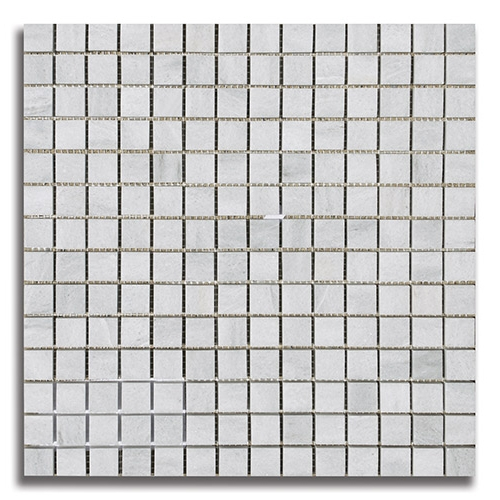 34 x 34 Ash Gray Honed Marble Mosaic Tile - AKDO
