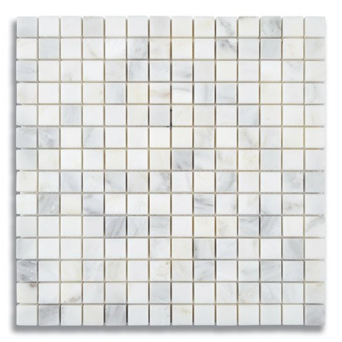 34 x 34 Carrara Bella Honed Marble Mosaic Tile - AKDO
